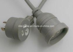 Австралийский SAA удлинительный кабель и разъем и разъемы питания имеет ступенчатую конструкцию задней панели