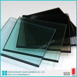 Le verre trempé avec meuler le bord plat 4mm 5mm de 6mm 8mm 10mm 12mm 15mm 19mm transparente Ultra Bronze clair Bleu Vert Gris Dark Light