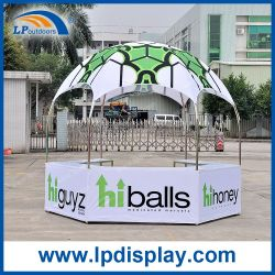 Impressão personalizada Visor Hexagonal tenda para a exposição