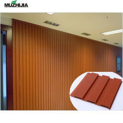 Eco WPC Panel de pared cubierta de madera para interior decorativa de pared 195mm