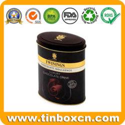 Forma de óvalo Chocolate Tin Box para el Envasado de Alimentos las latas de metal