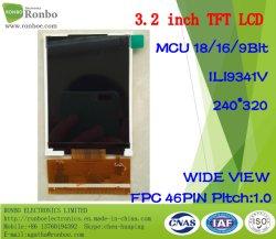 3,2-дюймовый 240x320 MCU/RGB 46Контакт TFT высокой яркости экрана