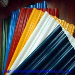 0.12-2mm de espesor galvanizado PPGI previamente recubierto de Color de la hoja de impermeabilización de cubiertas de acero corrugado