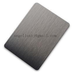 N° 4 304 feuilles en acier inoxydable brossé avec la couleur noire