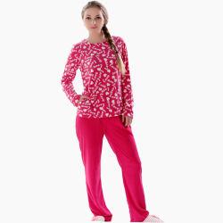 Les femmes de plus la taille de printemps en laine polaire Ensemble de vêtements de nuit 2 pièces Pyjama Lough Costume Vêtements de nuit pyjamas pour mesdames