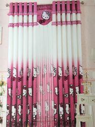 Home Use tecido rosa de poliéster cortina EDM5296