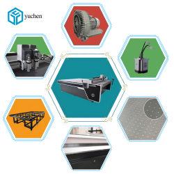 Yuchen CNC cuero/tela tejido//máquina de corte Textil de prendas de vestir y calzado/superior en el bolso con correa/Cortador de vibración