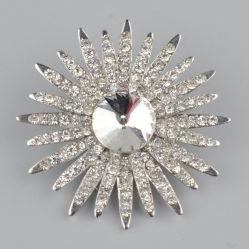 보석의 도매 수정같은 모조 다이아몬드 브로치