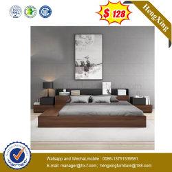 2019 Lit en noyer Accueil Hôtel moderne de la mélamine Petite chambre à coucher Mobilier de taille King (UL-9être116.2)