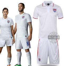 Nous l'équipe de soccer Accueil vêtements à manches courtes blanche Costume Vêtements de football