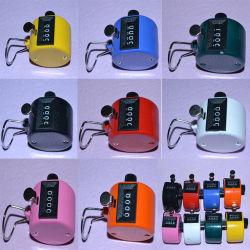 4 Digitale Teller van de Aantekening van de Hand van Clicker van het Aantal van het cijfer de Mini