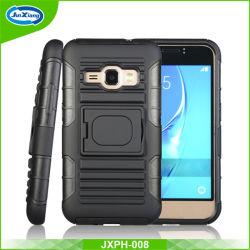 Samsung J1のための1つの携帯電話カバーに付き3つ、J710ベルトクリップKickstandのケース