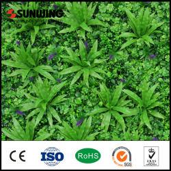 Cubierta de plástico barato de hoja verde de la planta de pared artificial
