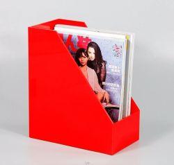 Acrylschreibtisch-Datei/Dokument/Zeitschriften-/Broschüre-Kasten-Organisator-Standplatz-Halter/Zahnstange