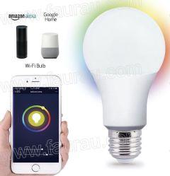 Nouveau produit de l'enregistrement de couleur RVB Energy-Lamp+CCT Contrôleur Smart Ampoule de LED lumière WiFi avec Alexa Google Assistant de travail
