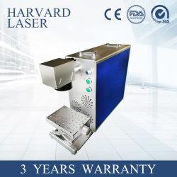 Portátil motorizada 20W/30W de fibra de CNC marcadora láser para metal o metaloide/láminas de metal/acero inoxidable con la norma ISO/Ce