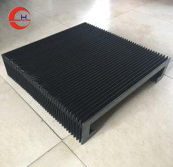 Fuelle del acordeón de tela cubierta de polvo de escudo protector para la máquina de CNC