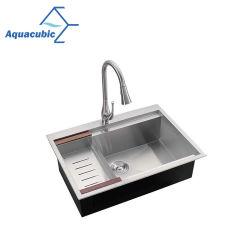 En acier inoxydable Aquacubic Aquacubic Cupc Handmade évier de cuisine (ACS3022A1T)