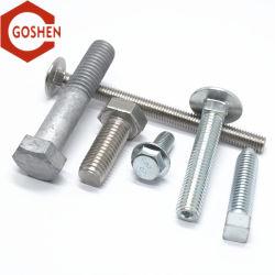 Goshen el tornillo hexagonal de acero inoxidable/perno de anilla/Perno/Perno de sujeción/T/tornillo de cabeza del tornillo del guardarraíl