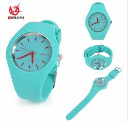 A ELEGÂNCIA DE VENDA quente 2016 Mulheres Assista logotipo impresso Personalizado Silicone Assista Meninas Candy Color Relógios de quartzo#V471