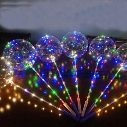Colores Luz LED transparente globos Bodas globos