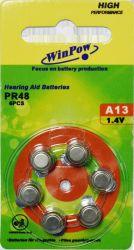 A13/PR48 Pilha tipo botão 1,45 V AA baterias Zinc Air
