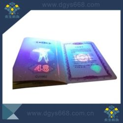 L'impression personnalisée hologramme Anti-Fake Certificat d'aluminium
