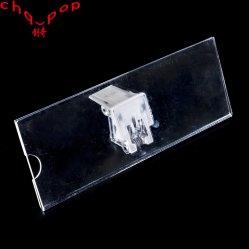 Panneau en acrylique Clip pour étagères/supermarché signe titulaire Clip (N30)