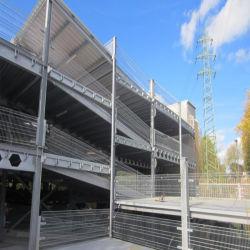 Q460 Q345d'acier S355 Structure en acier galvanisé à chaud Multi-Storey encadrée Feux de stationnement du parc automobile