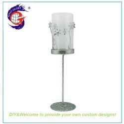 Sino Glory Pillar Silver Tall Metal Votive Candle Holders