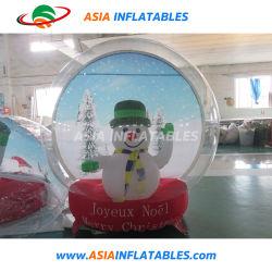 Opblaasbare Decoratie die de Opblaasbare Bol van de Sneeuw met de Matras van de Lucht adverteren Bouncy