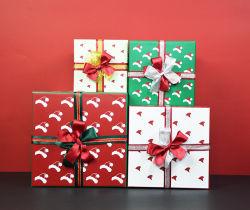 صلبة اثنان قطعات يعبر صندوق مع [فولّ كلور] يطبع غطاء وقاعدة لأنّ عيد ميلاد المسيح