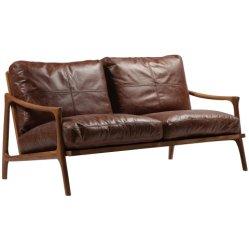 حديثة خشبيّة إطار جلد 2 مقادة يعيش غرفة أريكة