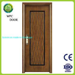 Цельная древесина индивидуальные цельной древесины ПВХ MDF двери с рамы составные деревянные