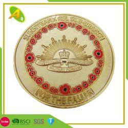 Naves metálicas baratas personalizadas Souvenir de cobre simple colección de monedas con su logotipo (156)