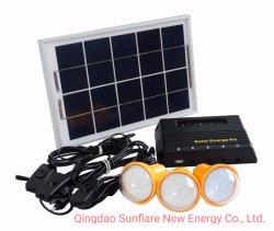 Kit Inicial do Sistema de iluminação solar Sistema de Energia com carregador de telemóvel