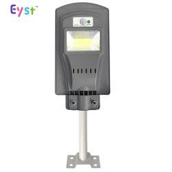 De bonne qualité d'éclairage extérieur Lumen élevé tout en un seul contrôle de la lumière étanche IP65 20W/40W/60W Rue lumière LED pour panneau solaire