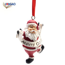 X'Holiday оформление полимера Рождество Санта положение подвешенных орнамент