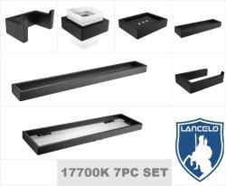 Высокое качество SS304 матовая черная отделка ванной комнаты аксессуары