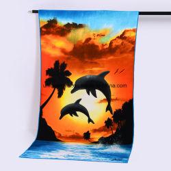 250 GSM Полноцветный запечатлеть ткань из микроволокна полотенце на пляже