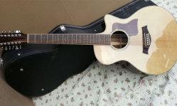 12ストリングChaylor 814ceのアコースティックギターのハンドメイドの814斜めに裁った音響のエレキギターの最上質の電気アコースティックギターの固体トウヒ12ストリング