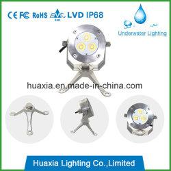卸し売り3Wは白いDC12V LEDの点の水中ライトを暖める