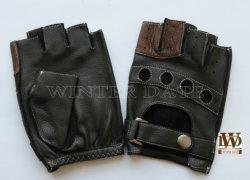 Deerskin/Etiopía/oveja/cuero genuino de la mitad dedo/Fingerless/ciclo de conducción Guantes de moda para hombres/mujeres
