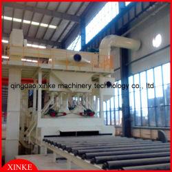 鋼板車輪のショットブラスト機械