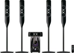 Canal 5.1 Sistema de Home Theater Multimedia Powered som ativa a rádio FM Alto-falante Bluetooth