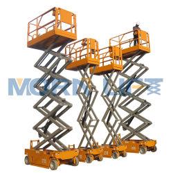 Mesa elevadora de tijera eléctrica levantar al hombre para trabajos aéreos