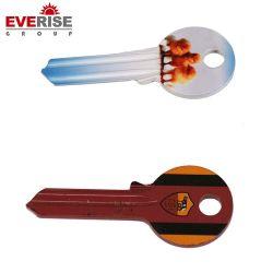Venta caliente popular diseño varios colores de la casa de latón llave virgen