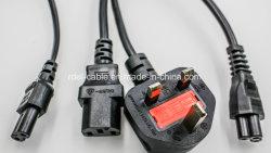노트북 3핀 영국 주 클로버 리프 전원 코드 C5 케이블