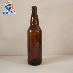Bottiglie di vetro spesse del vino della birra del Brown di figura rotonda del fornitore 750ml della fabbrica con i coperchi