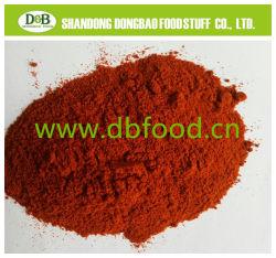 Guindilla y pimienta tipo y color marrón y rojo en polvo de pimentón dulce